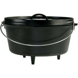 Lodge Seasoned Cast Iron Deep Camp Dutch Oven - 12 Inch/8 Qu