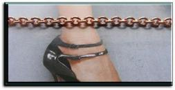 "Solid Copper Anklet CA675G - 1/8"" wide - Available in 8 to 1"