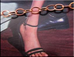 Solid Copper Anklet CA703G - 3/16 of an inch wide - Availabl