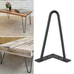 Solid Hairpin Legs Black Solid Iron Bar Metal Table Chair Le