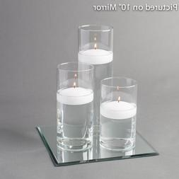 """Eastland Square Mirror and Cylinder Vase with 3"""" Floating Ca"""