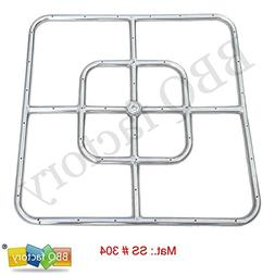 bbq factory® Stainless Steel Fire Pit Square Burner, 12 Inc