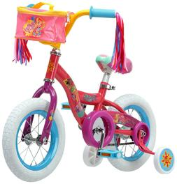 Nickelodeon Sunny Day 12-inch Steel Frame Kids Bike with Tra