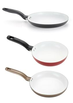 T-fal Initiatives Nonstick Ceramic 8, 10, 12-Inch Fry Pans,