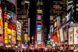 Times Square New York City NYC at Night Photo Art Print Post