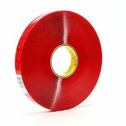 3M Vhb Tape 4910 Clear 12 Inch X 36 Yard 40.0 Mil