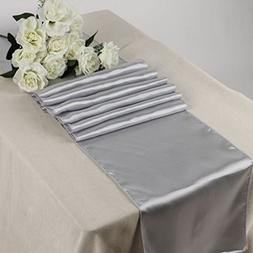 MDS Pack Of 20 Wedding 12 x 108 inch Satin Table Runner For