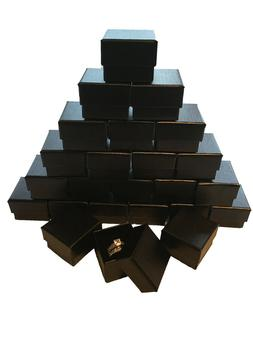 Wholesale Black Ring Gift Box with Foam and Velvet Insert 1.