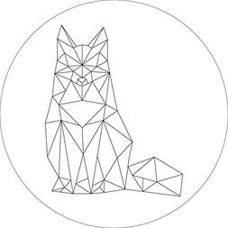 woodland forest fox geometric wall